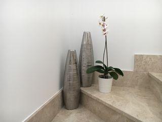 Jarrón decorativo elegante plata 58cm x2