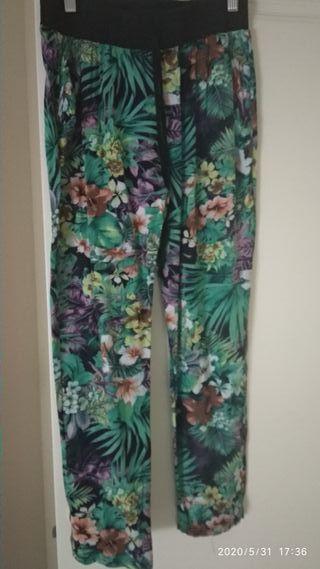 pantalon fino flores