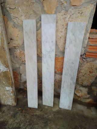 3 placas de mármol blanco