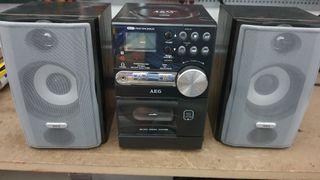 Minicadena radiocassette CD mp3 AEG