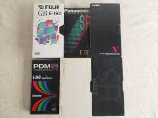 Cintas de video VHS para grabar