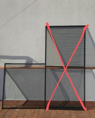 Mosquitera de aluminio para ventana
