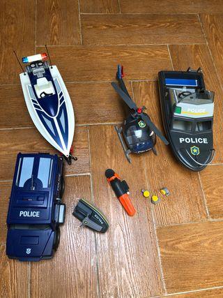 Pack vehículos policías playmobil