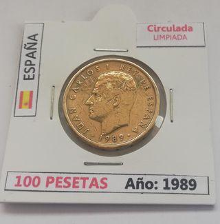 100 Pesetas (Año 1989)