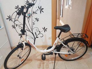 "Bicicleta plegable 24"" Acero"