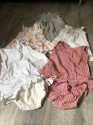 Lote 5 vestidos verano niña 12/18 meses