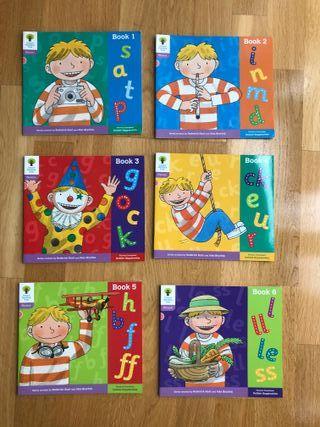 Pack 6 libros lectura inglés Oxford 1+ Phonics