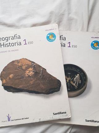 Libro geografía e historia de 1ESO Santillana