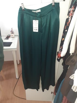 pantalon verde mango
