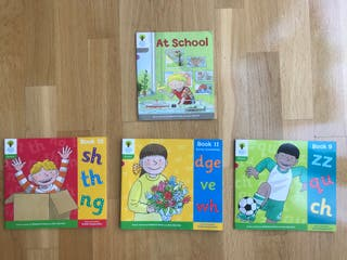 Pack 4 libros lectura inglés Oxford tree 1 y 2
