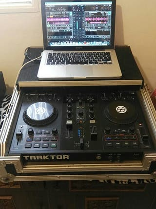traktor s2 + macbook pro + maletil maleta con rued