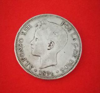 Moneda de 5 pesetas de Alfonso XIII
