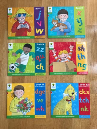 Pack 6 libros lectura inglés Oxford Tree 2 Phonics