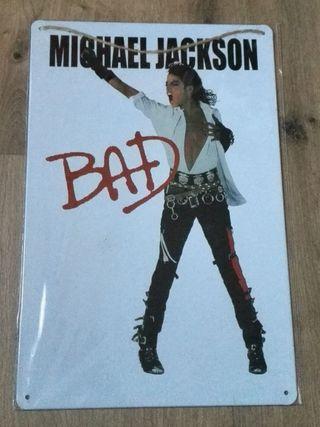 Cartel decoración Michael Jackson. BAD