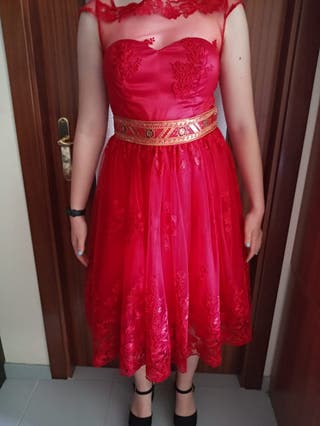 Vestido de ceremonia midi