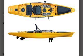 Kayak inut K5 con motor a pedales con aletas