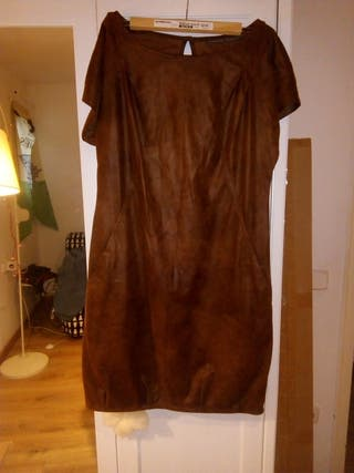 vestido marron