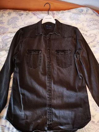 Camisa Vaquera Negra Zara
