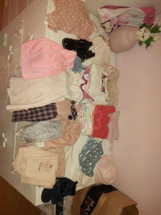lote ropa niña desde 3 hasta 12 meses.