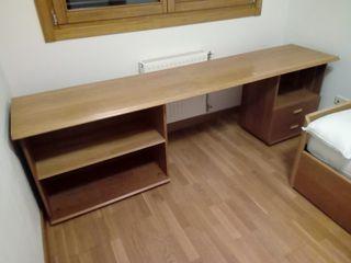 mesa escritorio con baldas y cajones