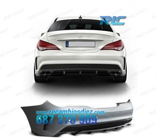 PARAGOLPES TRASERO MERCEDES CLA C117 13- PDC LOOK