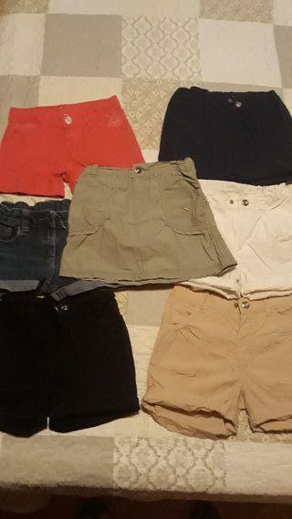 Lote pantalones niña y falda talla 6