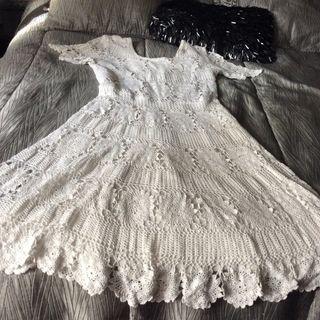 Vestido tejido blanco