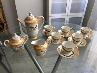 Antiguo juego de café de porcelana china