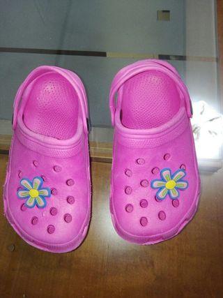 zapatillas piscina niña N ° 27
