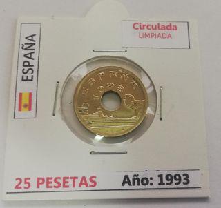 Moneda 25 Pesetas (Año 1993)