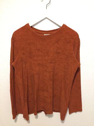 Jersey tejido toalla naranja