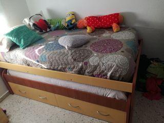 Cama nido, cama doble, cama cajones