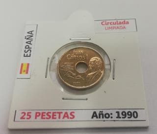 Moneda 25 Pesetas (Año 1990)