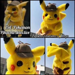 Peluche Pikachu detective - Pokémon