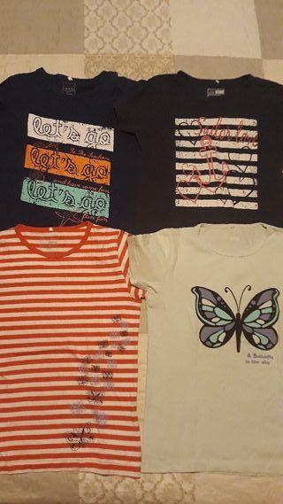 Lote 19 camisetas niña talla 8