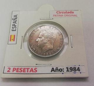 Moneda 2 Pesetas (Año 1984)