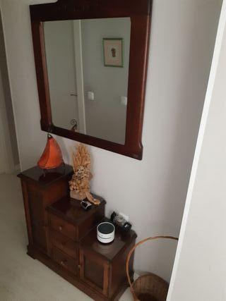 mueble zapatero con espejo