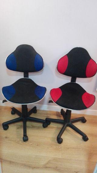 sillas escritorio, habitación juvenil