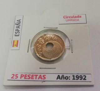 Moneda 25 Pesetas (Año 1992)