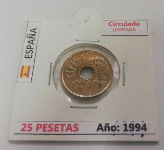 Moneda 25 Pesetas (Año 1994)