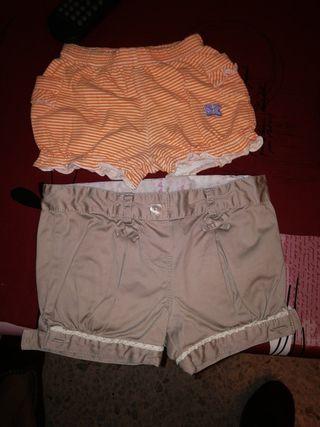 pantalón cortos niña talla 3-6meses(62-68cm