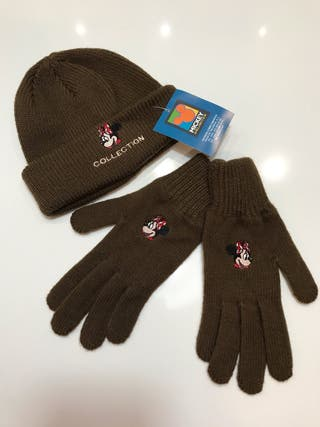 GORRO Y GUANTES MINNIE MOUSE