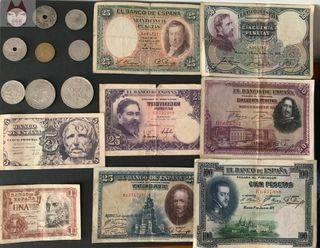 Pesetas españolas- Colección de monedas antiguas