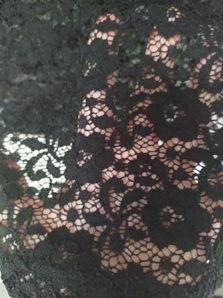 Camiseta íntima de encaje