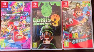 Pack 3 juegos Nintendo Switch