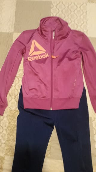 Chándal Reebok niña talla 8 y chaqueta extra