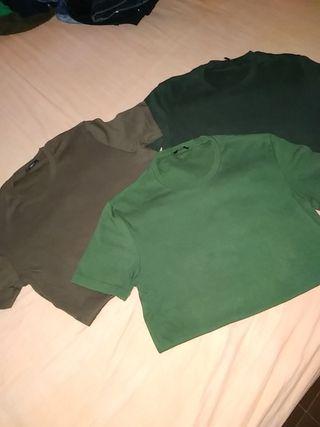 Tres camisetas chico TALLA S TEZENIS.
