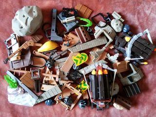 playmobil lote castillo piezas ascesorios