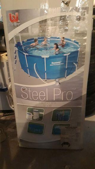 piscina portátil con depuradora