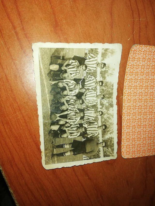 Antigua foto equipo de fútbol.
